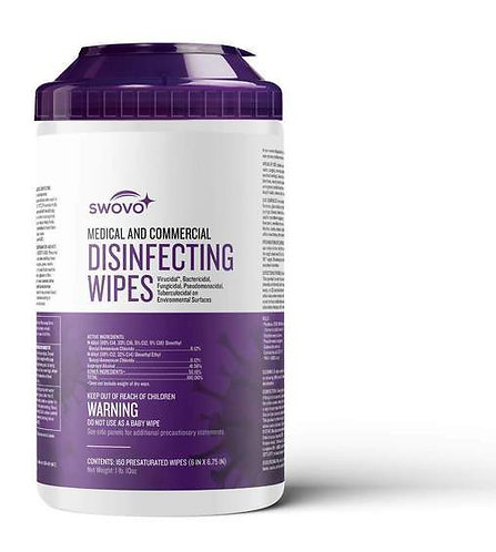 Swovo Disinfecting Wipes (case of 12)