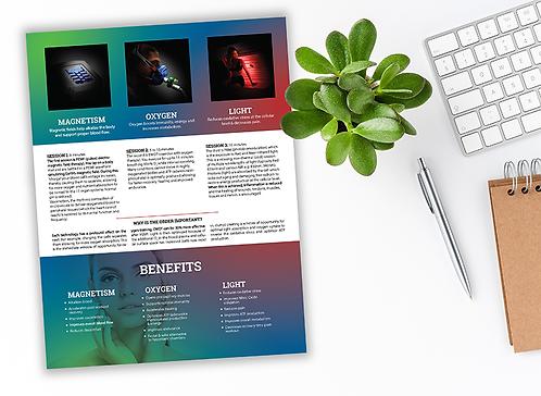 Superhuman Protocol Tri-fold  Brochures - 50 count