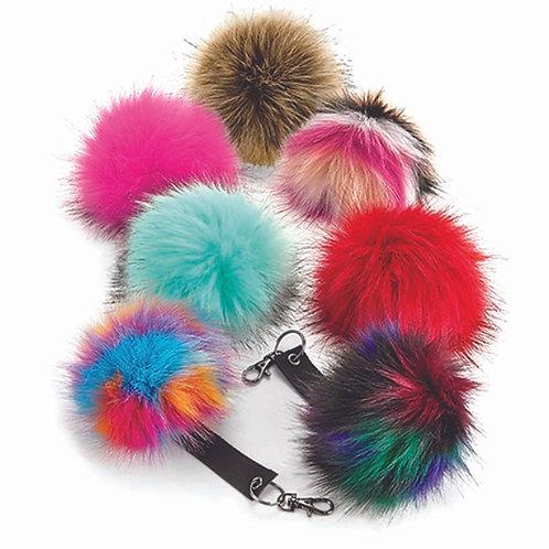 Faux Fur Pompom Keyring (BC400)