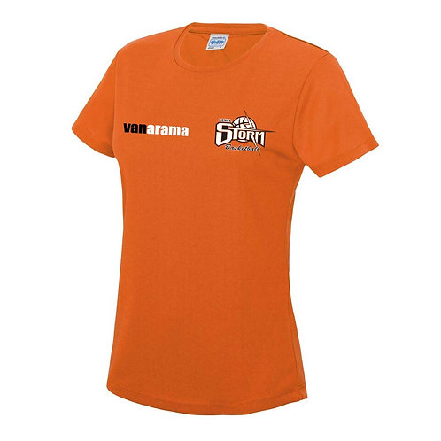 Storm Ladies Personalised Performance T Shirt - Orange (JC005)