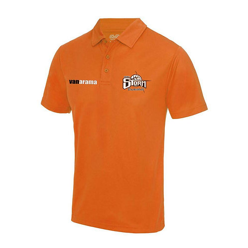 Storm Unisex Personalised Performance Polo Shirt - Orange (JC040)