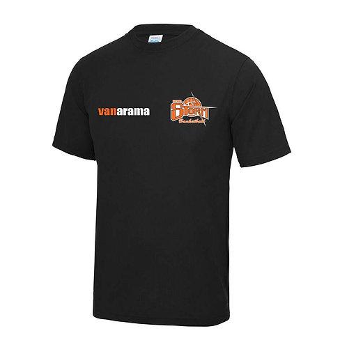 Storm Unisex Personalised Performance T Shirt - Black (JC001)