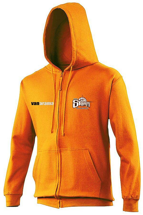 Storm Personalised Hoodie Zipped - Orange (JH050)