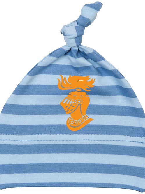 Camelot Baby Stripy one-nott hat - Antique, Dusty Blue (BZ15S)