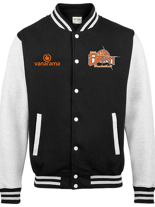 Storm Letterman Jacket Black/White (JH043)