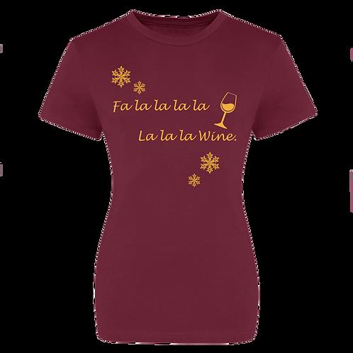 Fa La La WineChristmas T-shirt