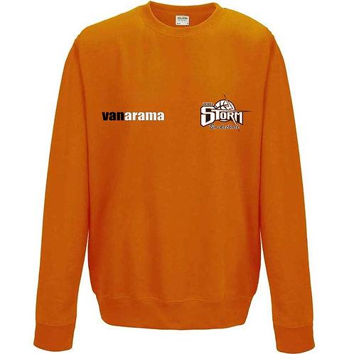 Storm Personalised Sweatshirt - Orange (7620M)