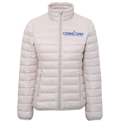 Connexions Womens White Padded Jacket (TS30F)