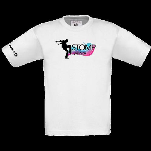 Children's White Stomp Dance T-shirt (B150B)