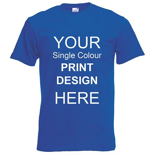 Bulk Printed T-Shirts (Coloured)
