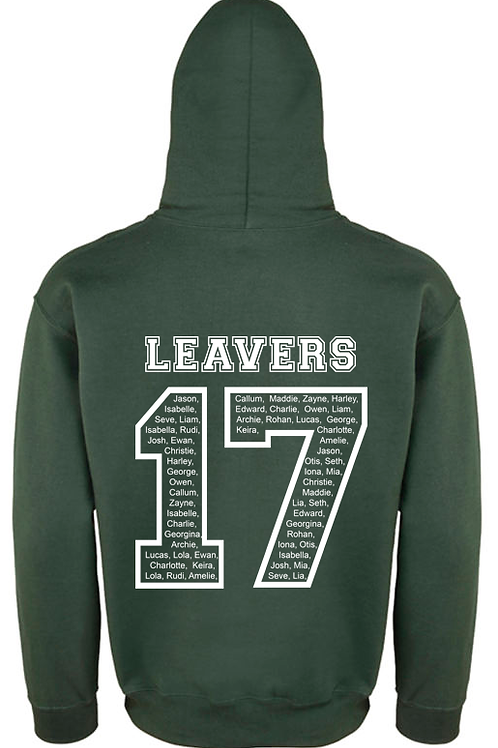 Personalised 2017 Leavers Hoodie (GD057)