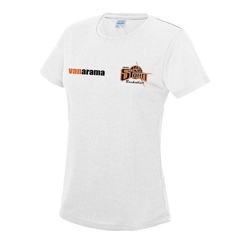 Storm Ladies Personalised Performance T Shirt - Black (JC005)