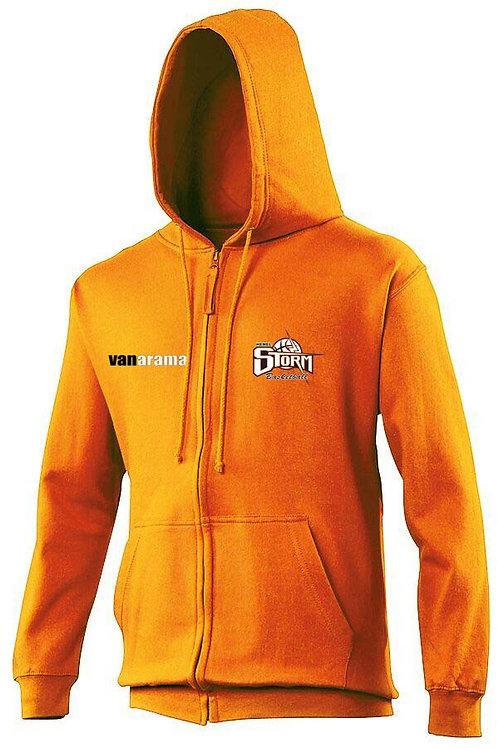 Storm Kids Personalised Hoodie Zipped - Orange (JH50J)