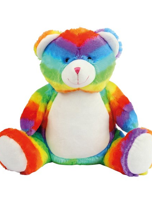 Embroidered 42cm Rainbow Bear (555)