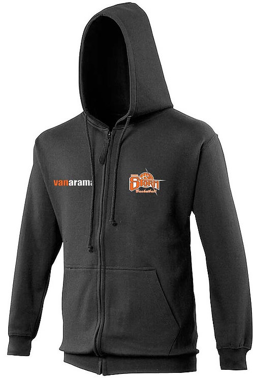 Storm Personalised Hoodie Zipped - Black (JH050)