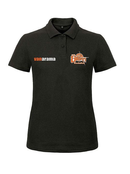 Storm Ladies Personalised Performance Polo Shirt - Black (B306F)