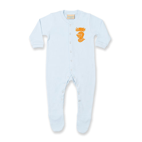 Camelot Sleepsuit - Pale Blue Baby (LW50T)