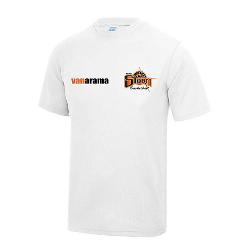 Storm Unisex Personalised Performance T Shirt - White (JC001)