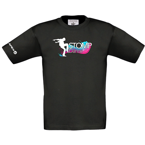 Children's Black Stomp Dance T-shirt (B150B)