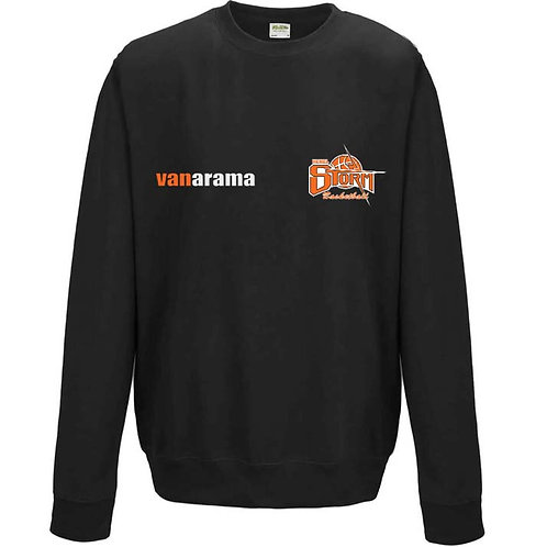 Storm Personalised Sweatshirt - Black (7620M)