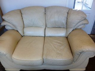 Leather | Cream Upholstery Cleaning | Clean Master | Hull