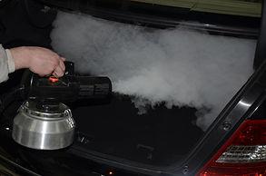 Обработка авто сухим туманом
