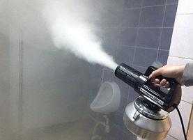 бработка туалета сухим туманом