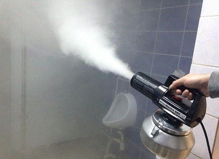 Обработка туалета сухой туман