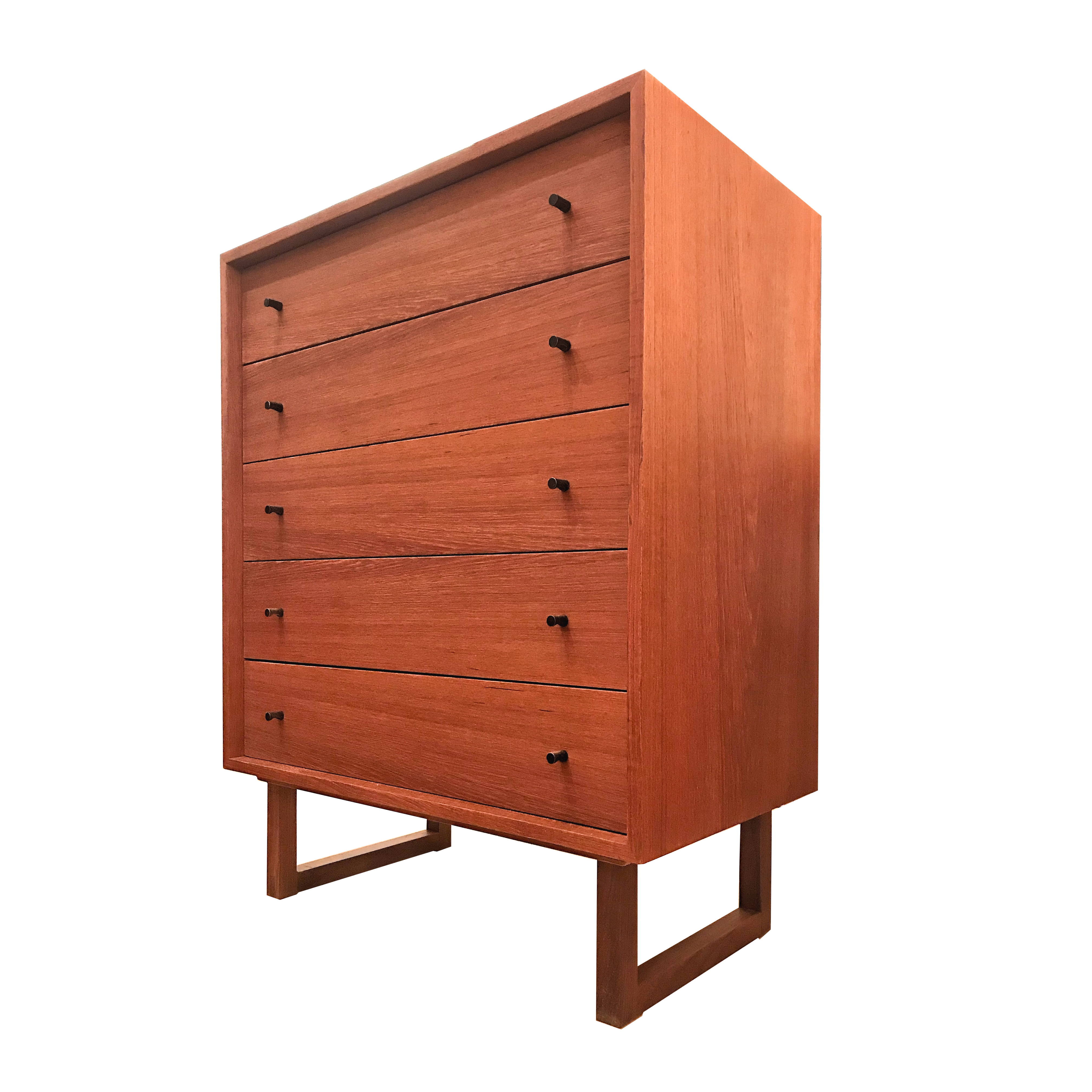 Commode highboy en teck 60's