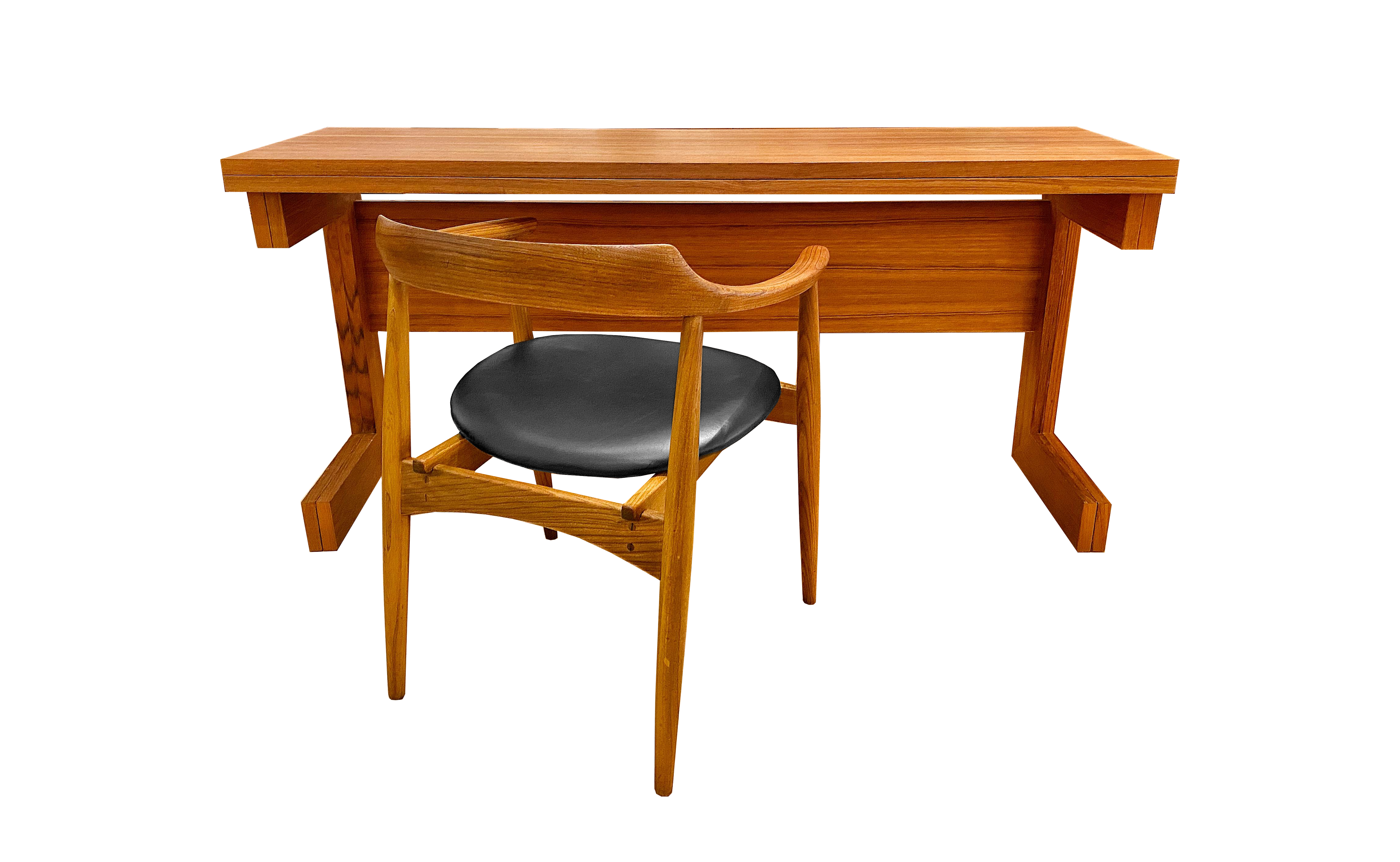 Bureau / table pliante en teck 70's