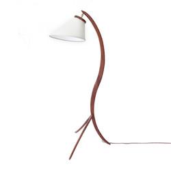 Lampe en teck 60's