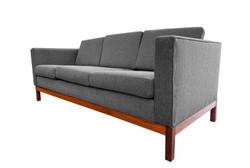 Sofa pattes en teck 60's