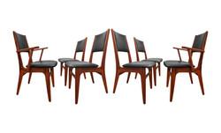 Chaises en bois rose 60's