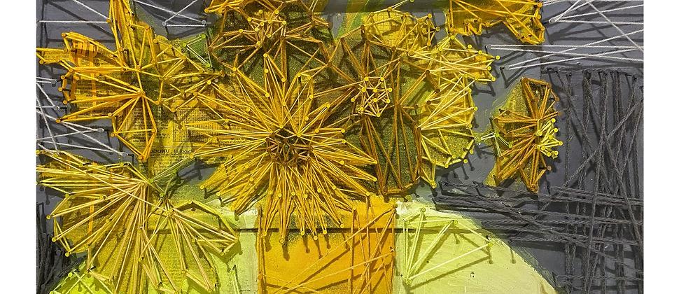 Fleurs dans la tasse (jaunes)