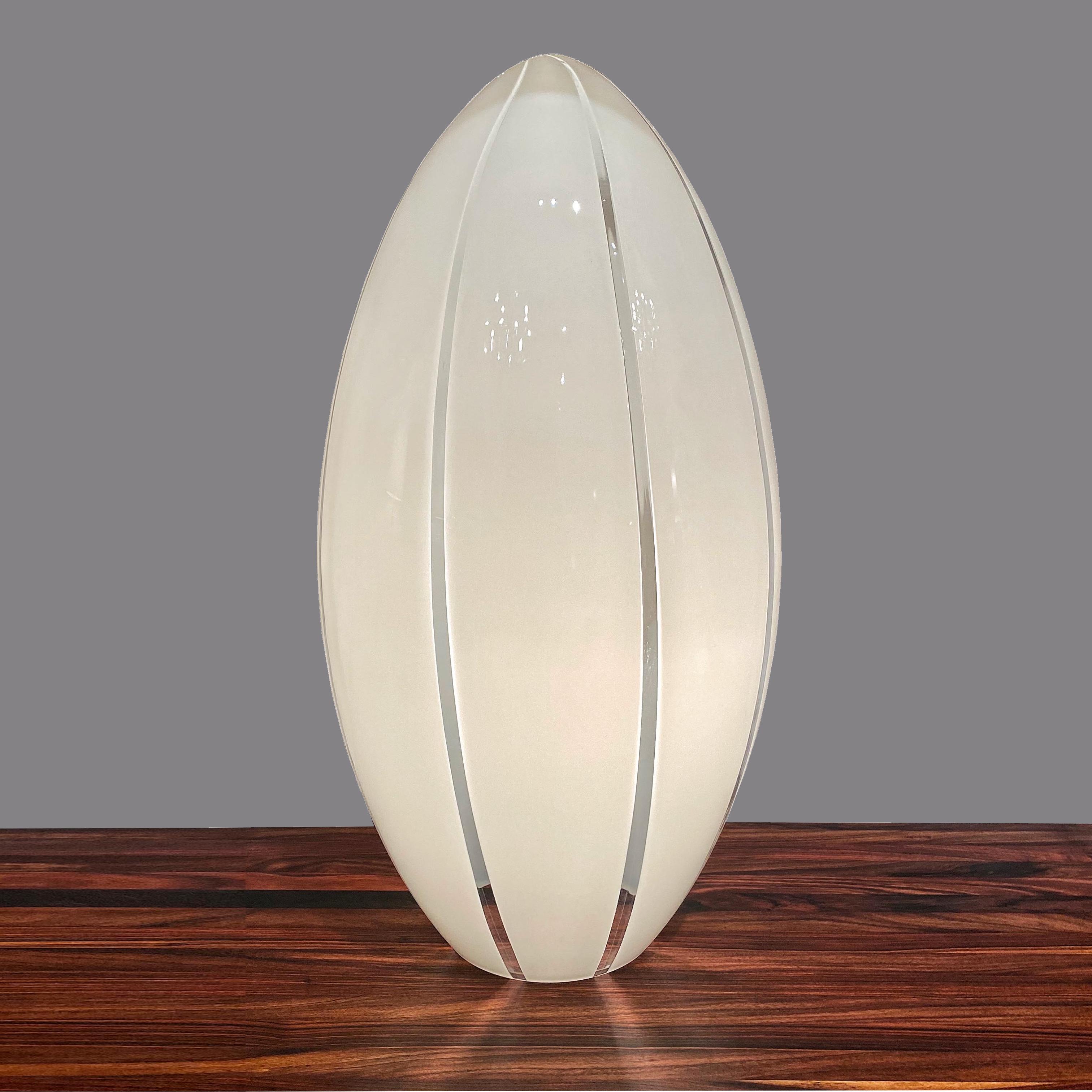 Lampe en verre 60's