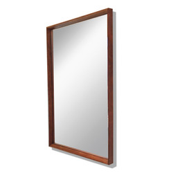 Miroir en teck 60's