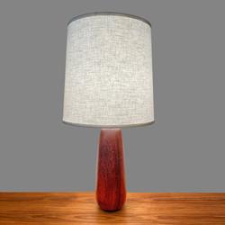 Lampe de table en teck massif 60's