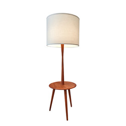 Lampe / table d'appoint en teck 60's