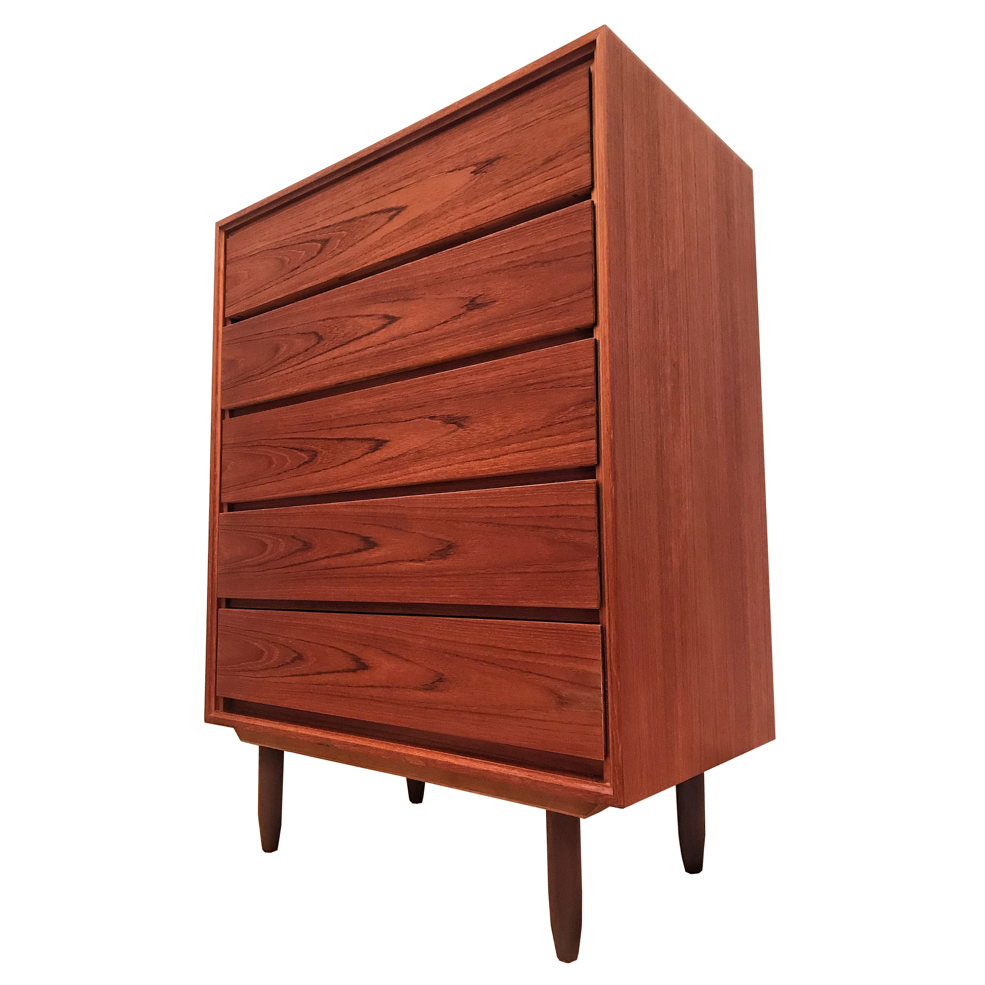 Commode Highboy en teck 70's