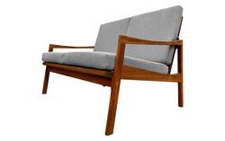 Canapé 2 places  en teck '60s