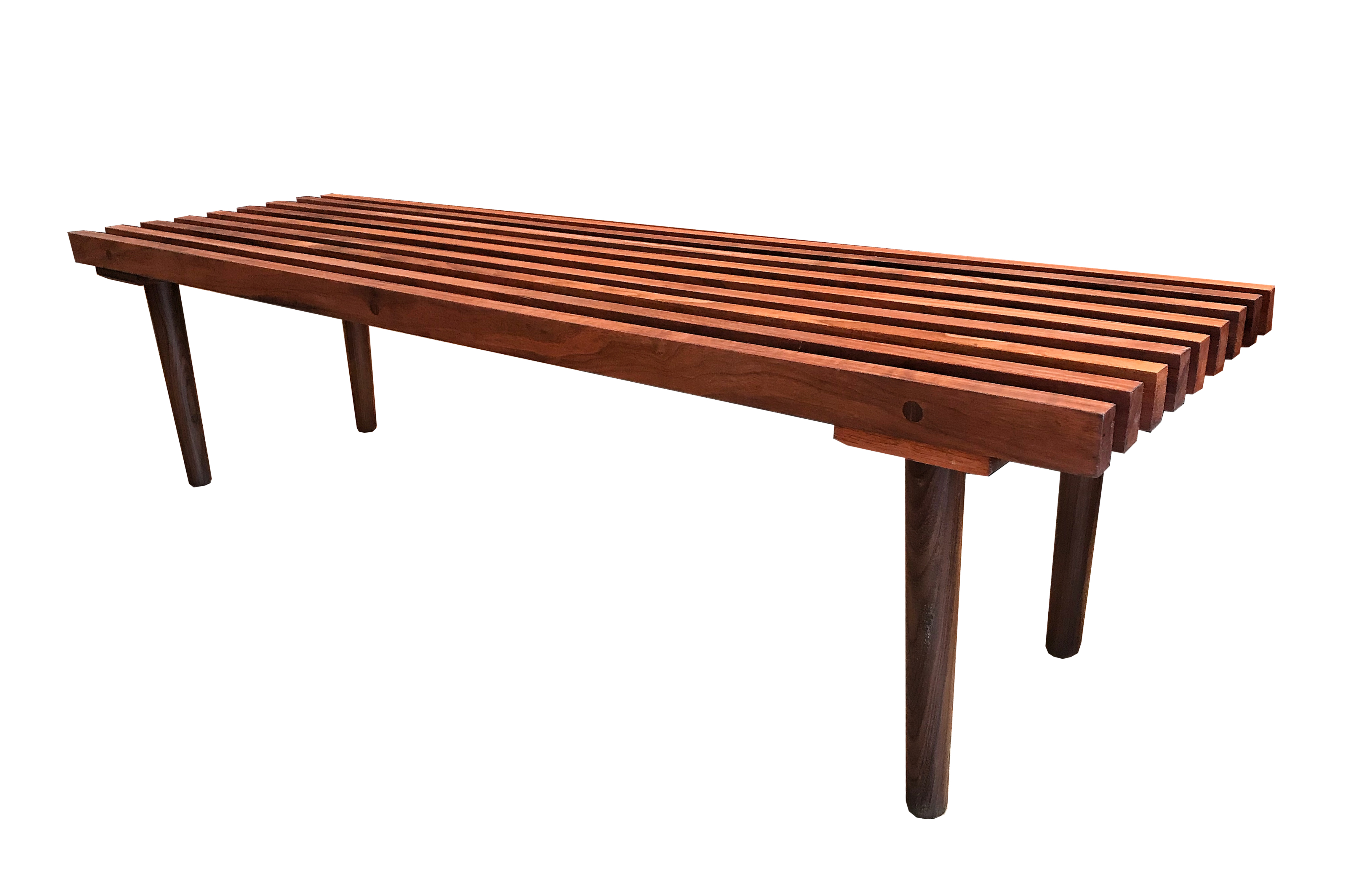 Table / banc en noyer 60's