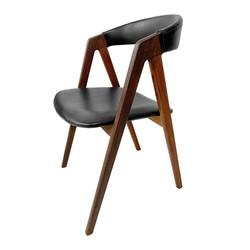 Chaise en teck 60's