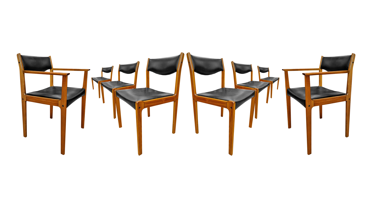 Chaises en teck 60's