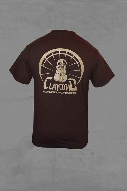 CLAYCOMB OUTDOORS BROWN TEE