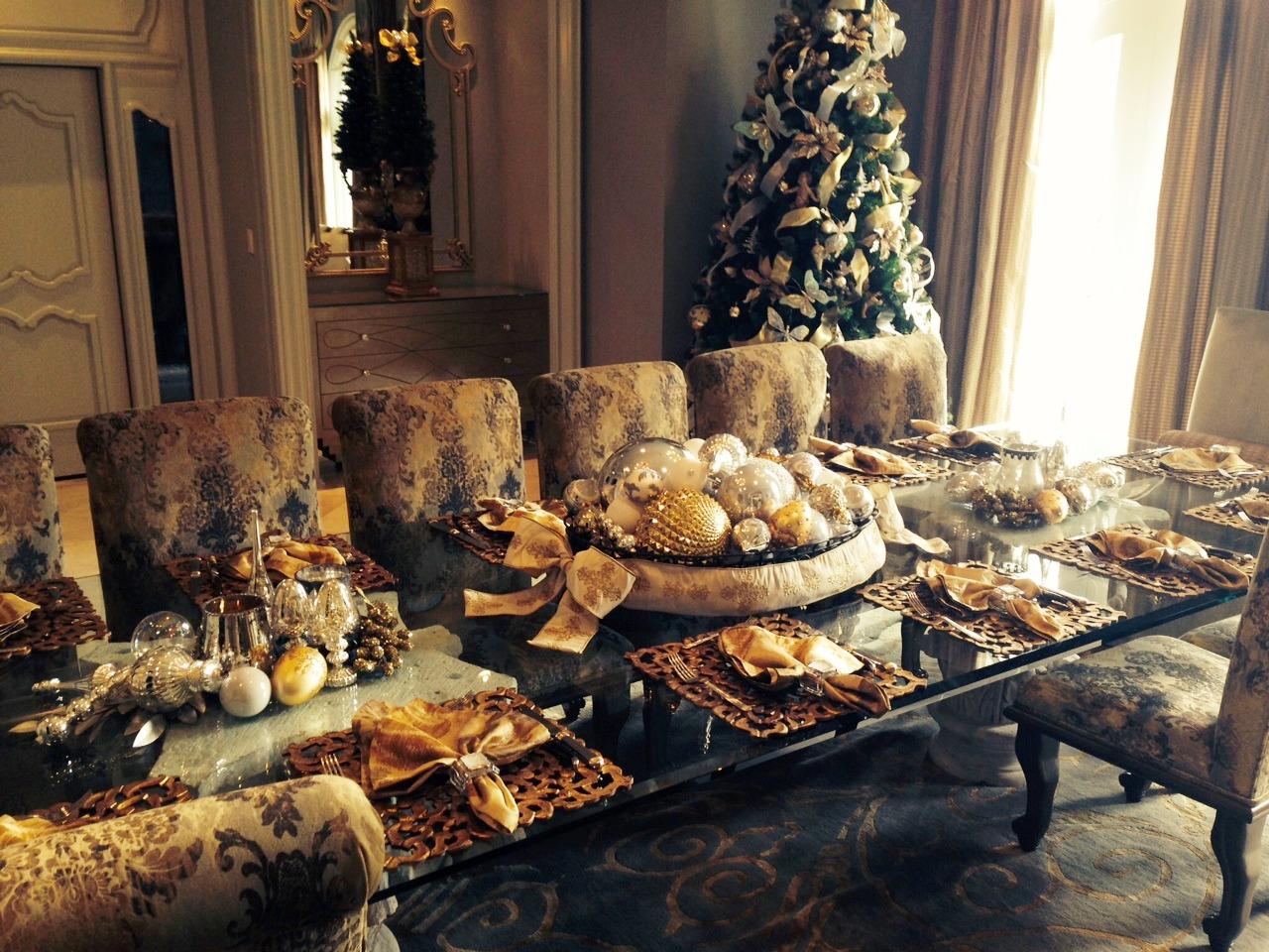 Christmas Dinning Center Pieces