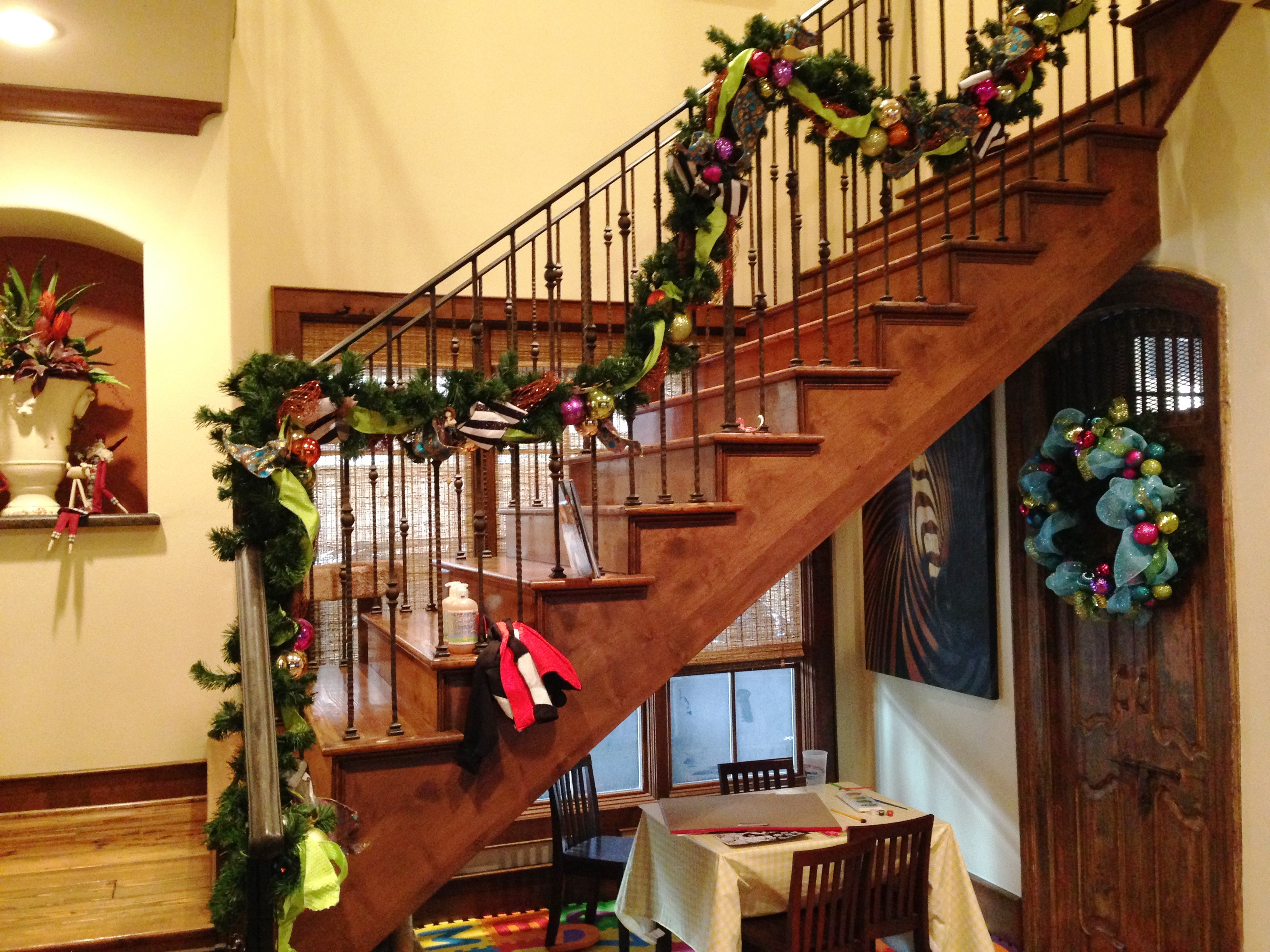 NYC & TX Christmas Stairway Home 4