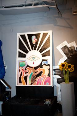 Art by Nelson Delgado Jr Titled Genesis