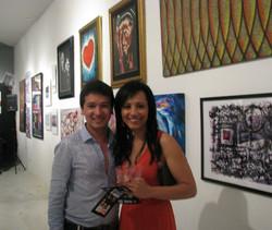 Guests Luis Fernando Arcila and Artist Milagros Bernales