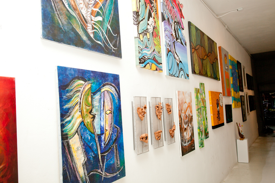 Displayed Art Wall