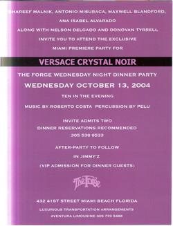 Versace Inside of invite